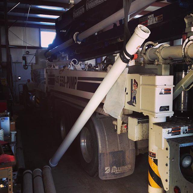 Pumper truck sitting in shop