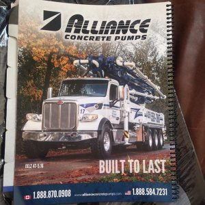 Operating manual for Alliance Concrete Pumps