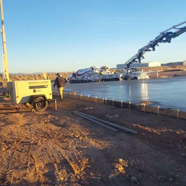 Truck extending boom as far as it will go